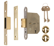 ERA 201 Viscount - 5 Lever Deadlock (65mm, Polished Brass)