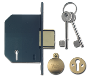 Yale PM552 - 5 Lever Deadlock (67mm, Polished Brass)