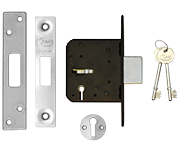 Thumbnail of Asec 3 Lever Deadlock (64mm, Stainless Steel)