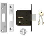 Thumbnail of Asec 3 Lever Deadlock (76mm, Stainless Steel)