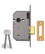 Thumbnail of Union 2157 - 3 Lever Upright Deadlock (65mm, Polished Brass)