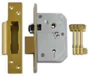 Thumbnail of Union 3K74E - BS 5 Lever Sashlock (67mm, Polished Brass)