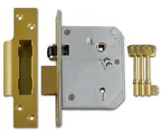 Thumbnail of Union 3K74E - BS 5 Lever Sashlock (80mm, Polished Brass)