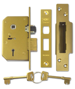 Union 3K75 - 5 Lever Sashlock (67mm, Polished Brass)