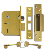 Union 3K75 - 5 Lever Sashlock (80mm, Polished Brass)