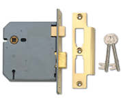 Union 2277 - 3 Lever Sashlock (103mm, Polished Brass)