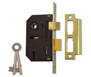 Thumbnail of Union 2243 - 3 Lever Sashlock (63mm, Polished Brass)