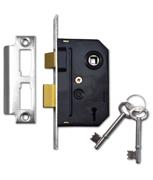 Thumbnail of Union 2295 - 2 Lever Sashlock (63mm, Polished Chrome)