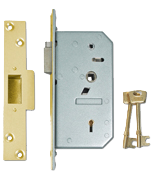 Thumbnail of Union 3R35 - 5 Detainer Nightlatch (80mm) R/H (Polished Brass)