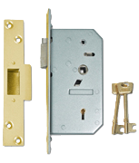 Thumbnail of Union 3R35 - 5 Detainer Nightlatch (80mm) L/H (Polished Brass)