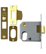 Thumbnail of Union 2332 - Oval Cylinder Nightlatch Case (77mm, Polished Brass)