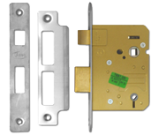Thumbnail of Asec Bathroom Lock (76mm, Stainless Steel)