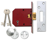 Union 2401 - 5 Lever Clawbolt Sliding Door Lock (78mm)
