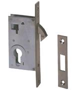 CISA 45110 - Euro Cylinder Hookbolt Sliding Door Case (50mm, Nickel Plated)