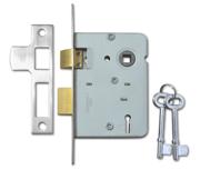 Legge 2378 - 2 Lever Sashlock (76mm, Nickel Plated)
