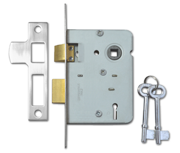 Legge 2378 - 2 Lever Sashlock (76mm, Nickel Plated)