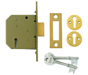 Yale PM322 - 3 Lever Deadlock (67mm, Polished Brass)