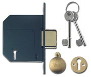 Yale PM562 - BS 5 Lever Deadlock (80mm, Polished Brass)