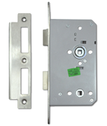 Briton 5430 DIN - Bathroom Lock (93mm) SQ (Stainless Steel)