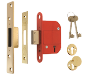 ERA 361 Fortress - BS 5 Lever Deadlock (79mm, Polished Brass)