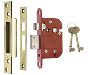 ERA 362 Fortress - BS 5 Lever Sashlock (79mm, Polished Brass)