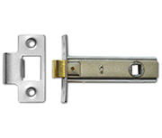 Asec Tubular Latch (76mm, Satin Chrome)