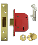 Union J2100 StrongBOLT - BS 5 Lever Deadlock (68mm, Polished Brass)
