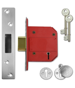 Union J2100 StrongBOLT - BS 5 Lever Deadlock (81mm, Satin Stainless Steel)