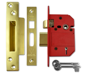 Thumbnail of Union J2200 StrongBOLT - BS 5 Lever Sashlock (68mm, Polished Brass)