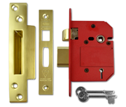 Thumbnail of Union J2200 StrongBOLT - BS 5 Lever Sashlock (81mm, Polished Brass)