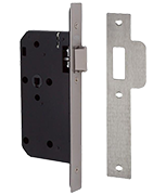 Thumbnail of Union J2C23 DIN - Flat Pattern Latch (83mm) SQ (Stainless Steel)