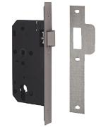 Union JL2C24 DIN - Euro Cylinder Nightlatch Case (83mm) SQ (Stainless Steel)