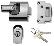Thumbnail of Yale PBS1 Deadlocking Night Latch (Polished Chrome)