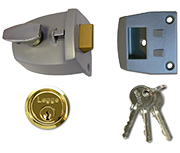 Thumbnail of Legge 727 - Deadlocking Night Latch (44mm, Silver, Polished Brass)
