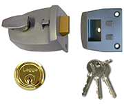 Thumbnail of Legge 707 - Deadlocking Night Latch (60mm, Silver, Polished Brass)