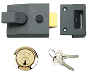 Thumbnail of Yale 89 - Deadlocking Night Latch (60mm, Dark Grey, Polished Brass)