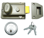 Asec Traditional Night Latch (60mm, Green, Satin Chrome)