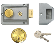 Union 1022 - Standard Night Latch (60mm, Silver, Polished Brass)