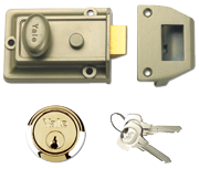 Yale 77 - Standard Night Latch (60mm, Bronze, Polished Brass)