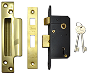 Thumbnail of Asec 5 Lever Sashlock (50mm, Polished Brass)