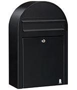 Bobi Classic S Black - Front Loading 22Ltr Medium Post Box