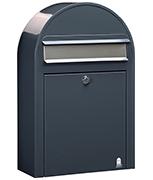 Bobi Classic S Grey - Front Loading 22Ltr Medium Post Box