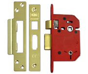 Thumbnail of Union J22WC StrongBOLT - Bathroom Lock (68mm, Polished Brass)