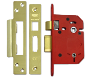 Thumbnail of Union J22WC StrongBOLT - Bathroom Lock (81mm, Polished Brass)