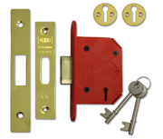 Union J2103 StrongBOLT - 3 Lever Deadlock (68mm, Polished Brass)