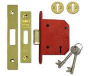 Thumbnail of Union J2103 StrongBOLT - 3 Lever Deadlock (81mm, Polished Brass)