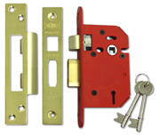 Thumbnail of Union J2203 StrongBOLT - 3 Lever Sashlock (68mm, Polished Brass)