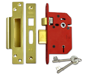 Thumbnail of Union J2205 StrongBOLT - 5 Lever Sashlock (68mm, Polished Brass)