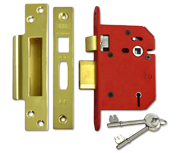 Thumbnail of Union J2205 StrongBOLT - 5 Lever Sashlock (81mm, Polished Brass)