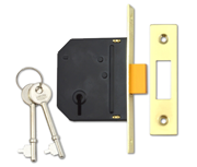 Thumbnail of Union Essential - 3 Lever Deadlock (65mm, Polished Brass)